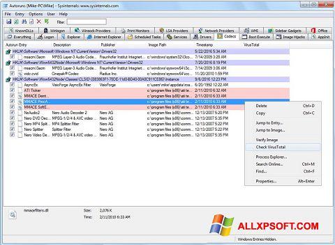 截圖 AutoRuns Windows XP