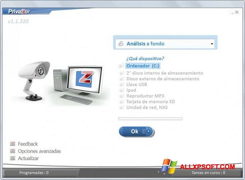 截圖 PrivaZer Windows XP