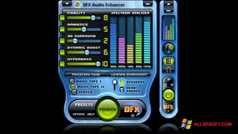 截圖 DFX Audio Enhancer Windows XP