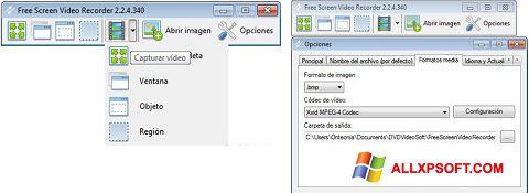 截圖 Free Screen Video Recorder Windows XP