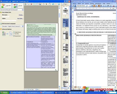 截圖 ABBYY PDF Transformer Windows XP