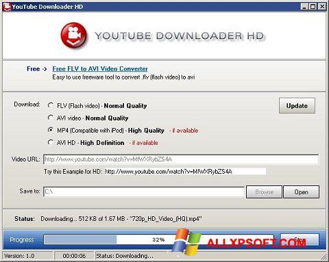 截圖 Youtube Downloader HD Windows XP