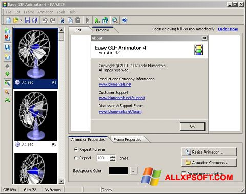 截圖 Easy GIF Animator Windows XP