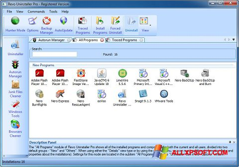 截圖 Revo Uninstaller Pro Windows XP